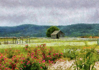 House On The Hill Photograph - Farm - Barn - Out In The Country  by Mike Savad