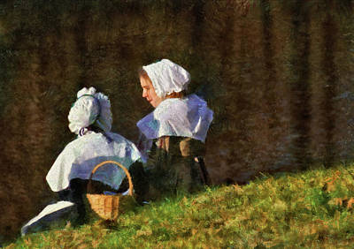Farm - Farmer - The Young Maidens Art Print by Mike Savad