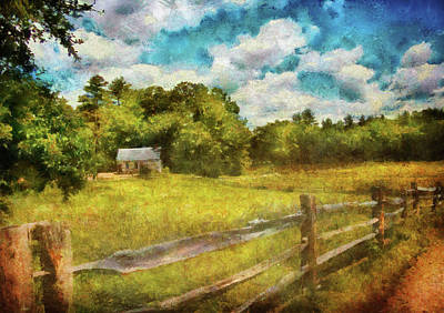 Farm - Fence - It's So Peaceful In The Country Art Print by Mike Savad