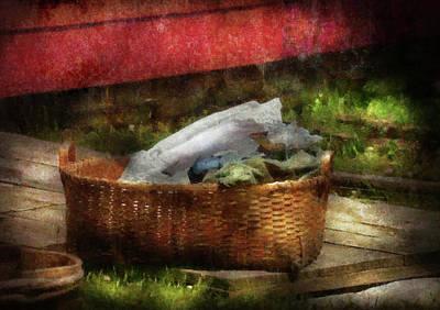Farm - Laundry  Art Print by Mike Savad