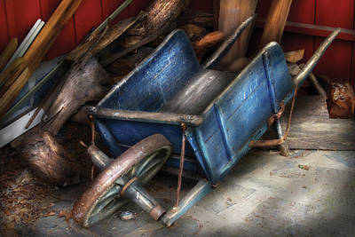 Farm - Tool - One Used Wheelbarrow Art Print