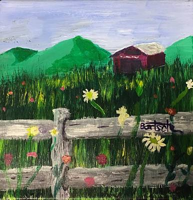Painting - Farm And Fence by David Bartsch