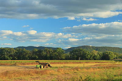 Photograph - Farm And Mount Holyoke Range Hadley by John Burk