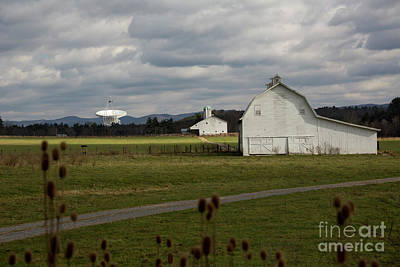 Photograph - Farm And Radio Telescope by Jim West