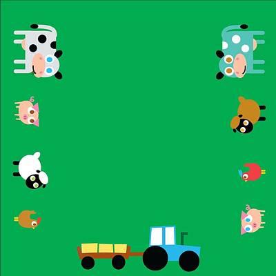 Digital Art - Farm Animals by Pbs Kids