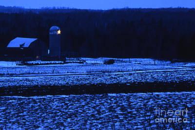 Farm At Christmas Art Print by Timothy Johnson