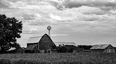 Photograph - Farm At Dusk by L O C
