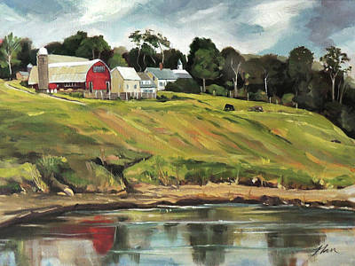 Painting - Farm At Four Corners by Nancy Griswold
