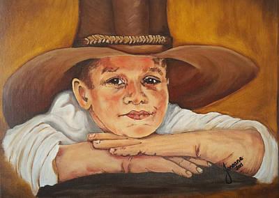 Tomboy Painting - Farm Boy by Jeneane Wilson