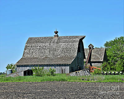 Photograph - Farm Buildings And Equipment by Kathy M Krause