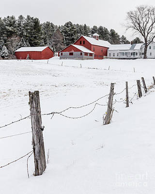 Photograph - Farm Buildings In Winter by Edward Fielding