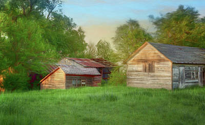 Photograph - Farm Buildings - Late Afternoon Light by Nikolyn McDonald
