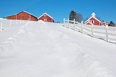 Photograph - Farm Country Winter by Alan L Graham