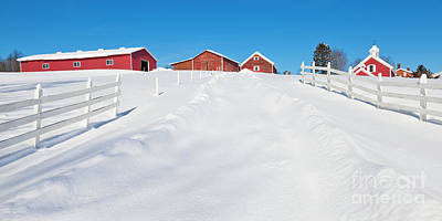 Photograph - Farm Country Winter Panorama by Alan L Graham