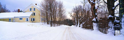 Farm Covered In Snow, Darling Hill Art Print by Panoramic Images