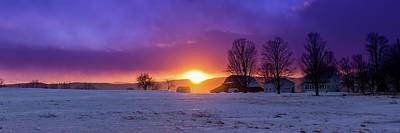 Photograph - Farm During January Sunset by Tim Kirchoff
