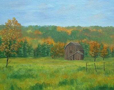 Carter.oil Painting - Farm Field Carter by John Carter