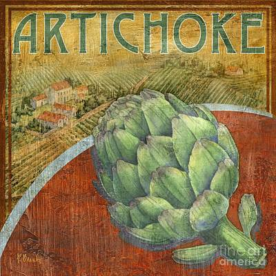 Artichoke Painting - Farm Fresh Artichoke by Paul Brent