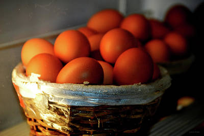 Photograph - Farm Fresh Brown Eggs by Lesa Fine