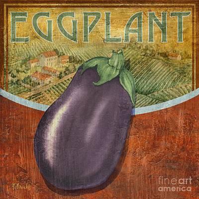 Eggplant Painting - Farm Fresh Eggplant by Paul Brent