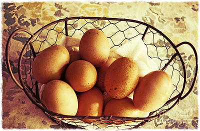 Photograph - Farm Fresh Eggs by Debbie Portwood