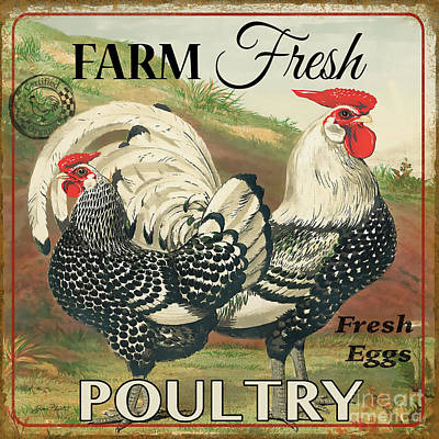 Digital Art - Farm Fresh Poultry-a by Jean Plout