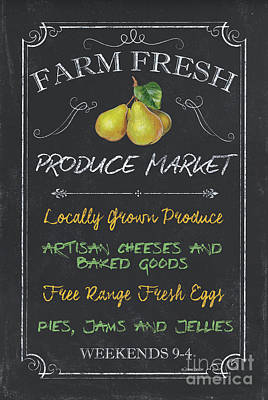 Restaurant Signs Painting - Farm Fresh Produce by Debbie DeWitt
