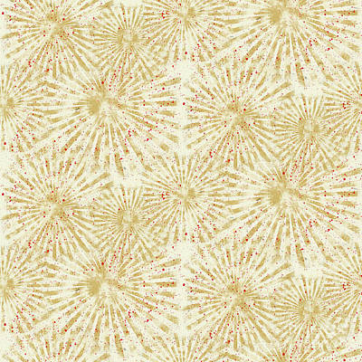 Painting - Farm Fresh Sunburst Splatters Repeat Pattern by Audrey Jeanne Roberts