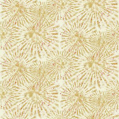 Farm Fresh Sunburst Splatters Repeat Pattern Original by Audrey Jeanne Roberts