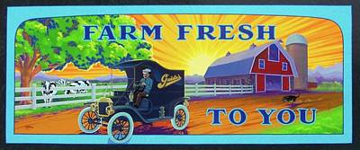 Painting - Farm Fresh To You  by Alan Johnson