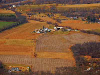 Photograph - Farm From Above From Appalachian Trail In Maryland by Raymond Salani III
