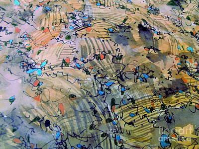Aerial Perspective Painting - Farm Fun by Nancy Kane Chapman