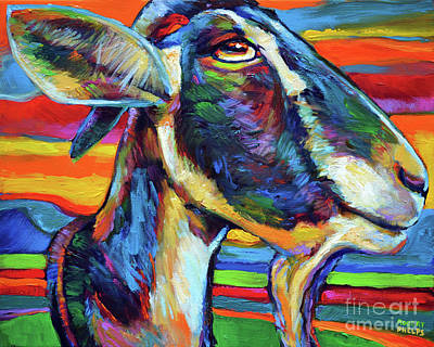 Painting - Farm Goat by Robert Phelps