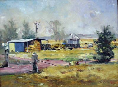 Farm Hayshed At Cowra, Nsw, Australia Art Print