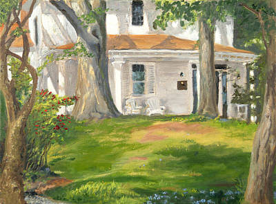 Wall Art - Painting - Farm House At The Conservancy by Katherine Farrell