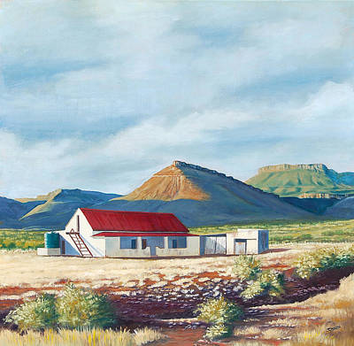 Painting - Farm House by Deon West
