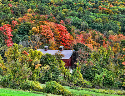 Photograph - Farm House In Fall Color by Joel Gilgoff