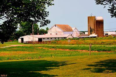 Photograph - Farm House Ohio by Lisa Wooten