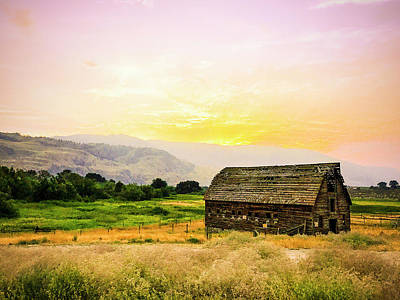 Photograph - Farm House Okanagan British Columbia Canada Summer Twilight Suns by Amyn Nasser