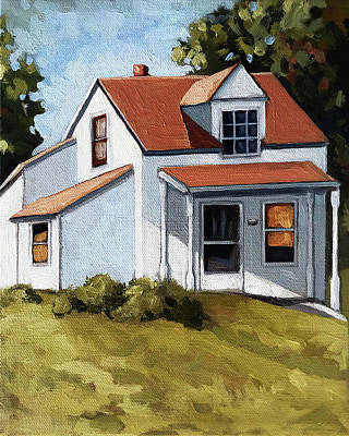 Painting - Farm House Original Oil Painting by Linda Apple