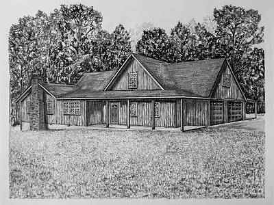 Affordable Drawing - Farm House Portrait 2051 by Robert Yaeger
