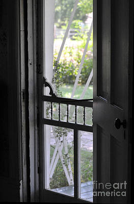 Photograph - Farm House Screen Door by Wilma  Birdwell