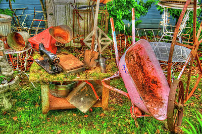 Photograph - Farm House Tools 3 by Richard J Cassato