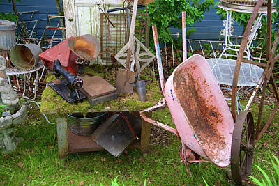 Photograph - Farm House Tools by Richard J Cassato