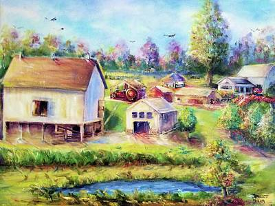 Painting - Farm II by Bernadette Krupa