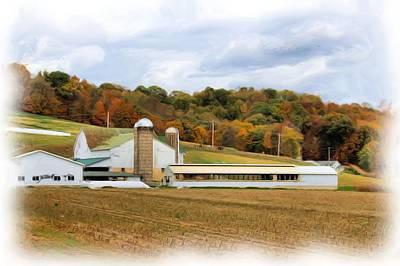 Amish Farms Digital Art - Farm In Amish Country by Gary Wilson