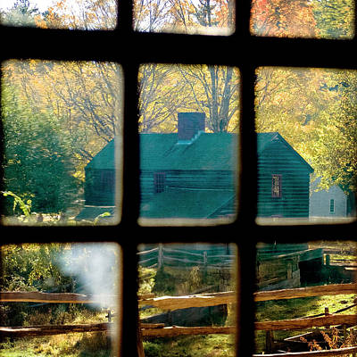 Photograph - Farm In Autumn - Vintage Art by Joann Vitali