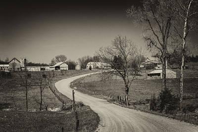 Photograph - Farm In Gasconade County Mo Monotone_dsc4116 by Greg Kluempers