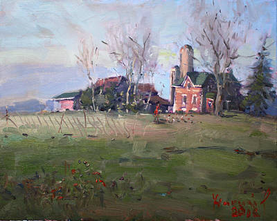 Hills Painting - Farm In Georgetown by Ylli Haruni