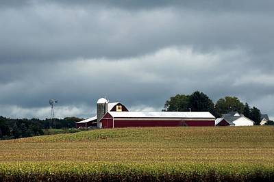 Photograph - Farm In Michigan by Ellen Barron O'Reilly